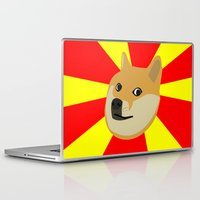 doge Laptop & iPad Skins featuring Doge by Subtle Tee
