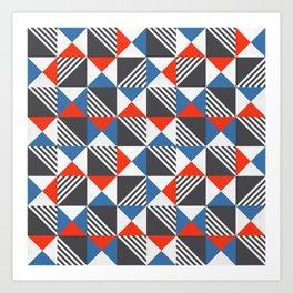 Geometric Triangle Lines Pattern Art Print