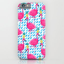 Party Flamingos iPhone Case
