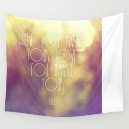 Bokeh Quote Wall Tapestry