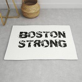 Support BOSTON STRONG Black Grunge Rug
