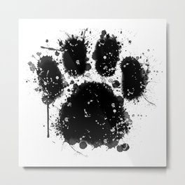 Pawprint Love Metal Print