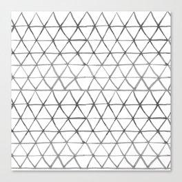 Watercolour triangles Canvas Print