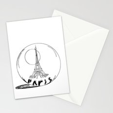 paris in a glass ball Stationery Cards