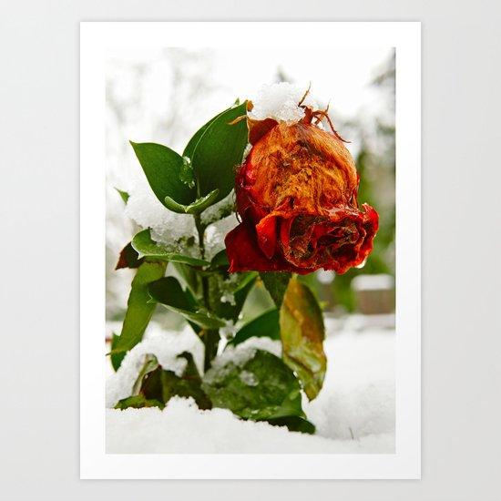 Frozen love Art Print