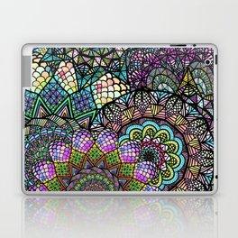 Colorful Floral Mandala Pattern with Geometric Drawings Laptop & iPad Skin