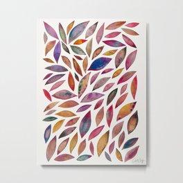 Diamond Leaves – Autumn Palette Metal Print