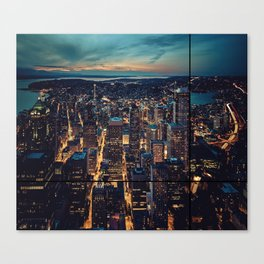 Skyscrapes-City View Canvas Print