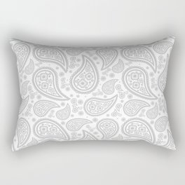 Paisley (Gray & White Pattern) Rectangular Pillow