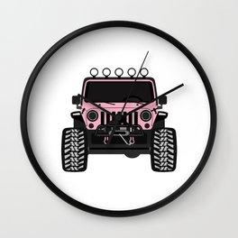 Barbie Jeep Wall Clock