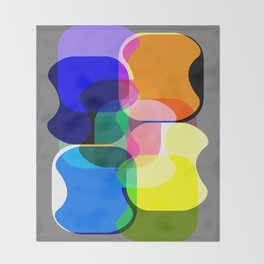 Multicolored abstractions Throw Blanket
