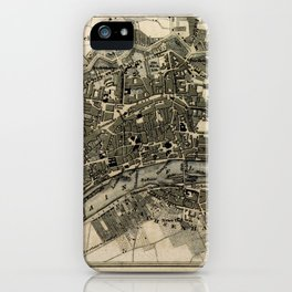Plan von Frankfurt iPhone Case