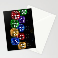 Game of Dice Stationery Cards