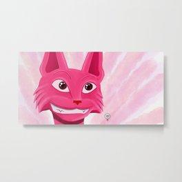 Lollipop the pinky cat Metal Print