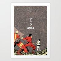 akira Art Prints featuring Akira by Rafael Romeo Magat