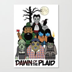 Dawn of the Plaid Canvas Print