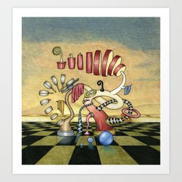 Cooking Frenzy Print Art Print