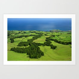 Typical Azores landscape Art Print