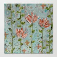 Flowering vines Canvas Print