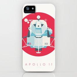 Apollo 11 Lunar Lander Module - Text Crimson iPhone Case