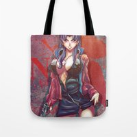 evangelion Tote Bags featuring The End Of Evangelion by AirForceTuan