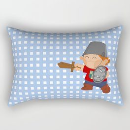 little knight, playing to grow Rectangular Pillow