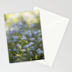 Forget me not in LOVE - Blue Flower Floral Spring Flowers on #Society6 Stationery Cards