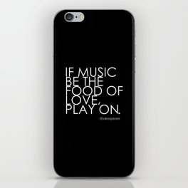 The Food Of Love iPhone Skin