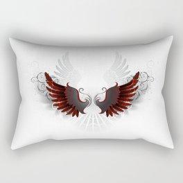 Black Wings Rectangular Pillow