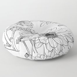 Gerberas 1 Floor Pillow