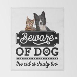 Beware Of The Dog Throw Blanket
