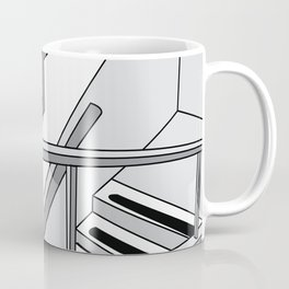 STAIRWELL Abstract Art Coffee Mug