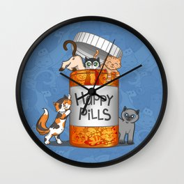 Happy Pills Wall Clock