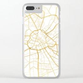 MANCHESTER ENGLAND CITY STREET MAP ART Clear iPhone Case