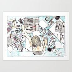 Deciding Art Print