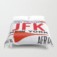 jfk Duvet Covers featuring JFK TAG  by Studio Tesouro