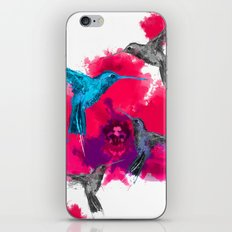 Pink hum orchid explosion  iPhone & iPod Skin