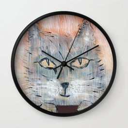 Raggedy Cat Wall Clock