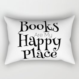 Books Are My Happy Place Rectangular Pillow
