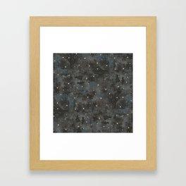 Watercolor Black Starry Sky Robayre Framed Art Print
