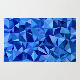 Blue tile mosaic Rug