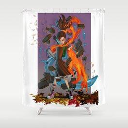 Poet Concept Art Shower Curtain