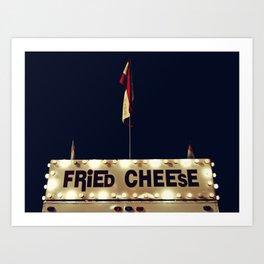 Fried Cheese Art Print