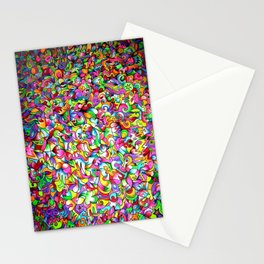 Abstract multicoloured pattern Stationery Cards