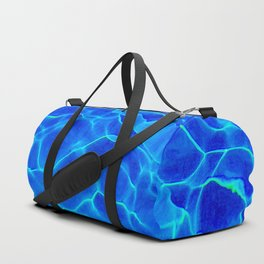 Blue Water Abstract Duffle Bag