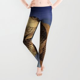 Hokusai – two carps -葛飾 北斎,engraving,carpa, fish. Leggings