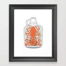 The Kraken in a Bottle Framed Art Print