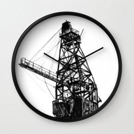Coal Derrick Wall Clock