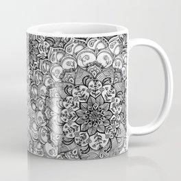 Shades of Grey - mono floral doodle Coffee Mug