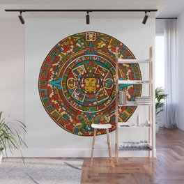 Aztec Mythology Calendar Wall Mural